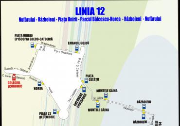 Modificari la linia 12 de autobuz din Oradea. Vezi noul traseu anuntat de OTL