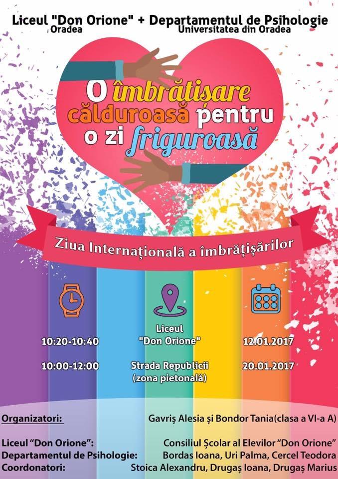 Ziua Internationala a Imbratisarilor la Oradea