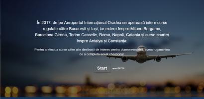 Chestionar Aeroportul Oradea: Catre ce destinatii doriti sa calatoriti?