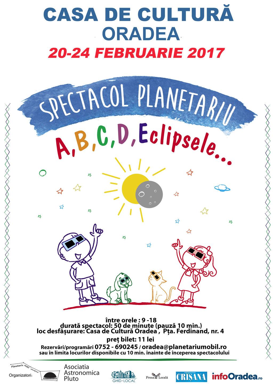 afis Spectacol Planetariu 20-24 februarie Oradea