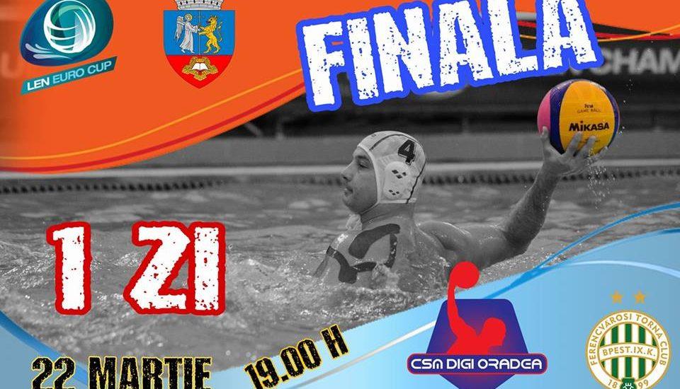 CSM DIGI Oradea in finala LEN EURO CUP la Polo. Dupa 36 de ani Oradea va juca din nou intr-o finala de cupa europeana