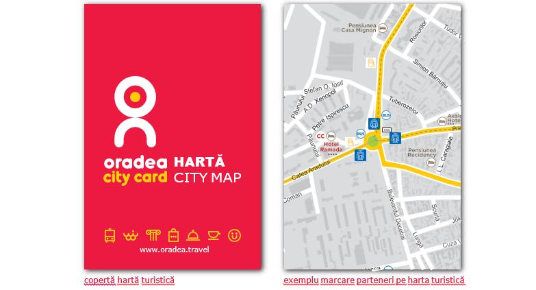 Harta turistica a orasului si Baile Felix Oradea City Card 2017