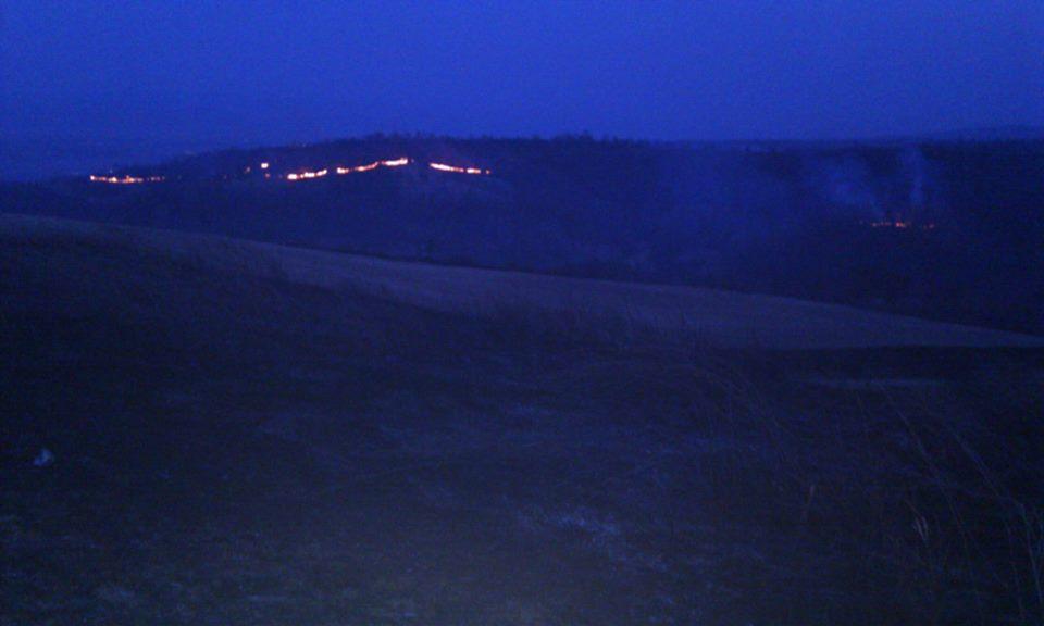 Incendiu vegetatie Bihor