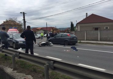 Accident scuter Lugasu de Jos