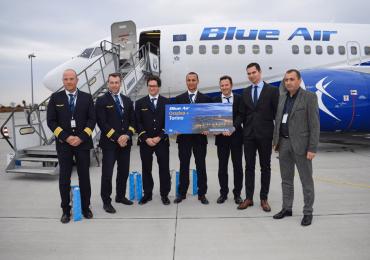 A treia cursa internationala. Zborul Blue Air Oradea -Torino, inaugurat ieri pe Aeroportul Oradea. (GALERIE FOTO)