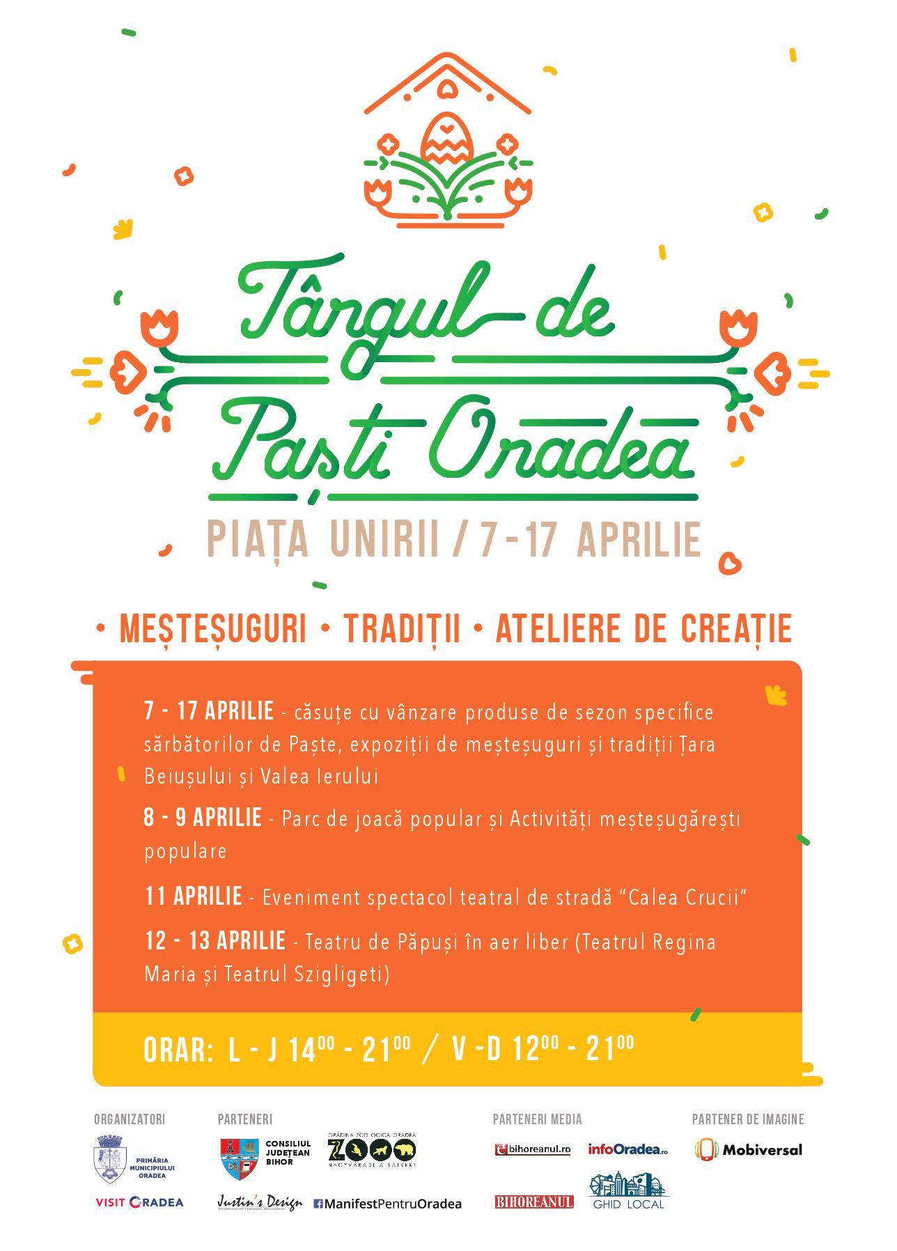 Program Târgul de Pasti Oradea 2017