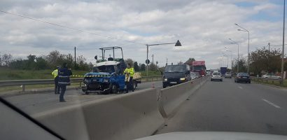 Accident grav pe Centura Oradea. Trei accidentati transportati la spital cu multiple leziuni (FOTO)