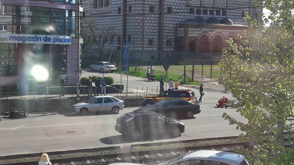Motociclist accidentat pe strada Nufarului din Oradea