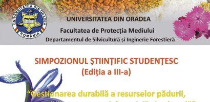 Simpozion studentesc pe tema resurselor padurii la Universitatea Oradea