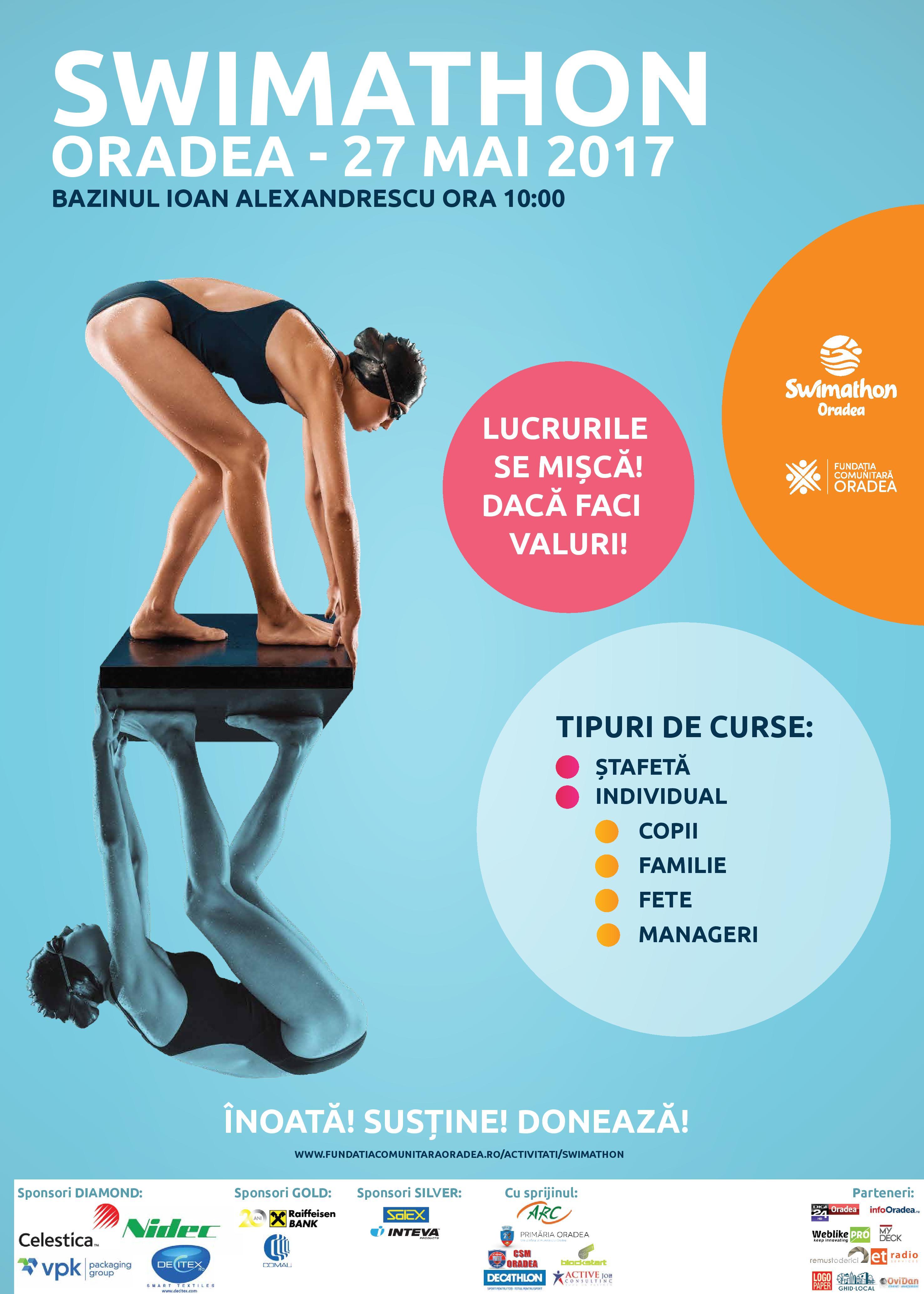 swimathon poster Oradea 2017