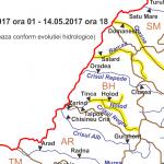 COD GALBEN de inundatii in Bihor. Torenţi, viituri rapide, cu posibile efecte de inundaţii locale