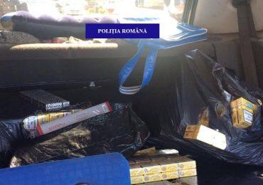 Captura de tigari in Vama Bors. Un sofer a incercat sa ascunda 2.600 de pachete de tigari in masina sa