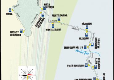 Schita traseu Linia 12lpe Mihai Viteazul
