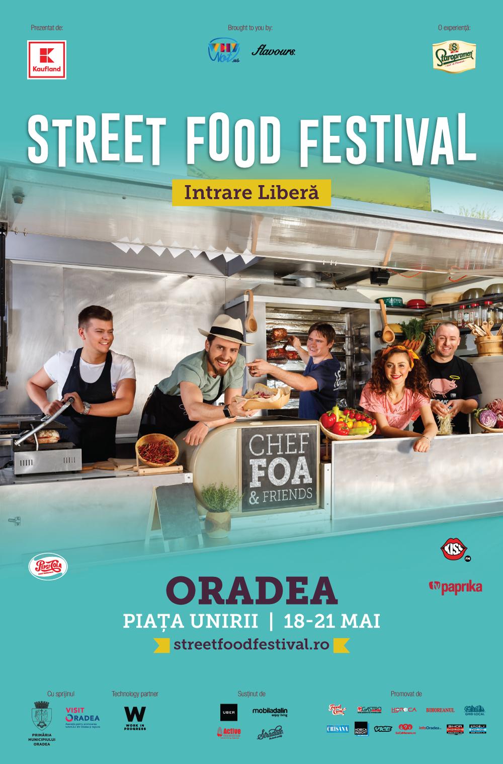 Street FOOD Festival Oradea 2017 Chef Foa Piata Unirii 18-21 mai