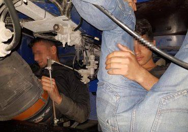 3 sirieni depistati in Vama Bors, ascunsi in sasiul unui TIR (FOTO)