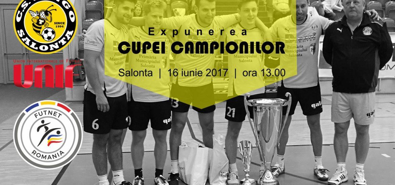 Cupa mondiala a cluburilor la futnet, castigata de Tengo Salonta, va fi expusa in centrul orasului Salonta