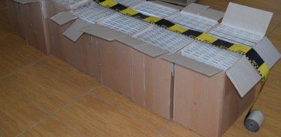 B.C.C.O. Oradea: Grupare specializată în contrabandă cu ţigări, destructurată în urma a 31 de percheziţii (FOTO)