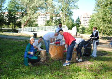 Voluntari kaizen parcul silvas oradea