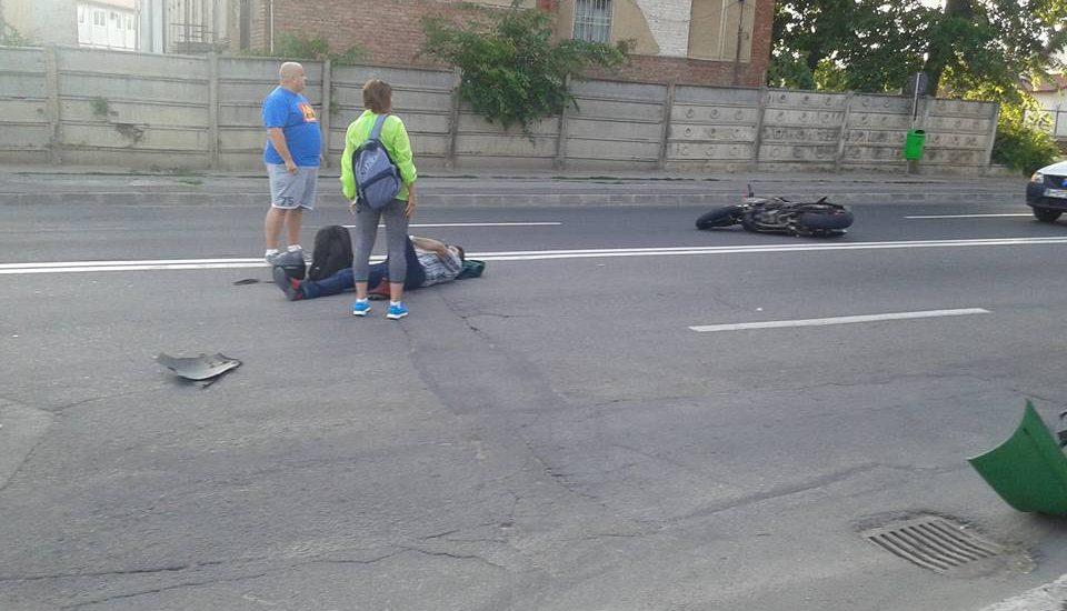 Accident in care a fost implicat un motociclist, in aceasta dimineata in Oradea