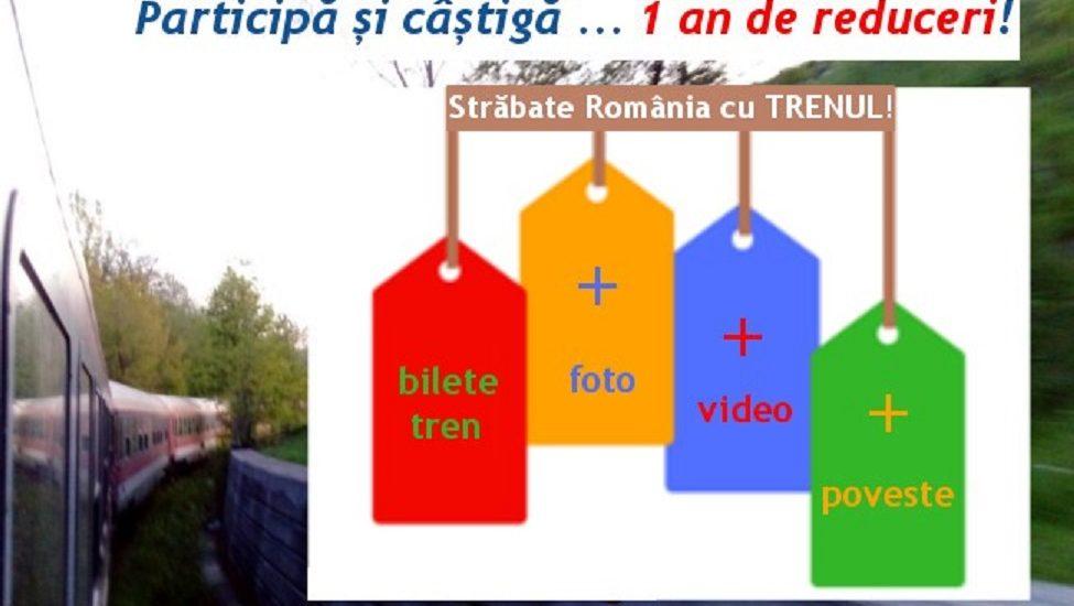 """Castiga premii calatorind cu CFR, in cadrul campaniei: """"StrăbateRomânia cu trenul"""""""