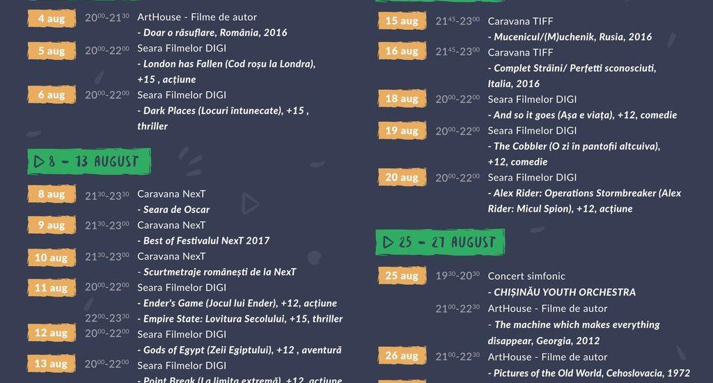 Program Oradea Summer Film 2017 – Cetatea Oradea – 4-27 august