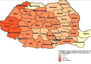 245 de cazuri de rujeola semnalate in judetul Bihor la data de 18 august 2017