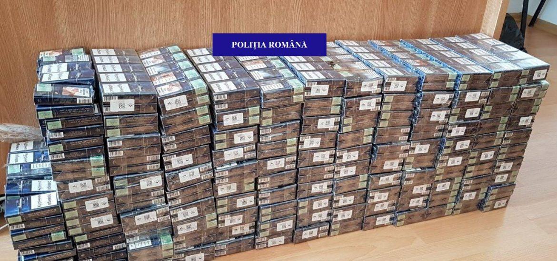 25.000 de țigarete marcate necorespunzător, confiscate de polițiștii bihoreni (FOTO)
