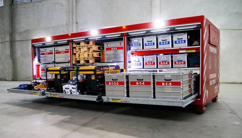 ISU Crisana are in dotare un container suport logistic al intervenției pentru căutare/salvare – Multirisc
