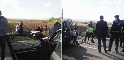 Accident grav pe DN1, in apropiere de Urvind, in aceasta dimineata. Trei masini implicate (FOTO)