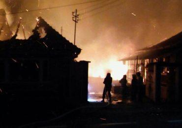 Incendiu pe strada Sankt – Petersburg din Oradea