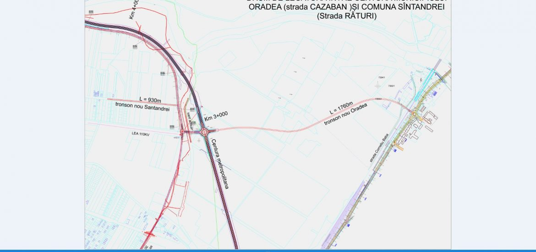 Santandrei si Osorhei vor fi legate de Oradea prin doua noi drumuri metropolitane