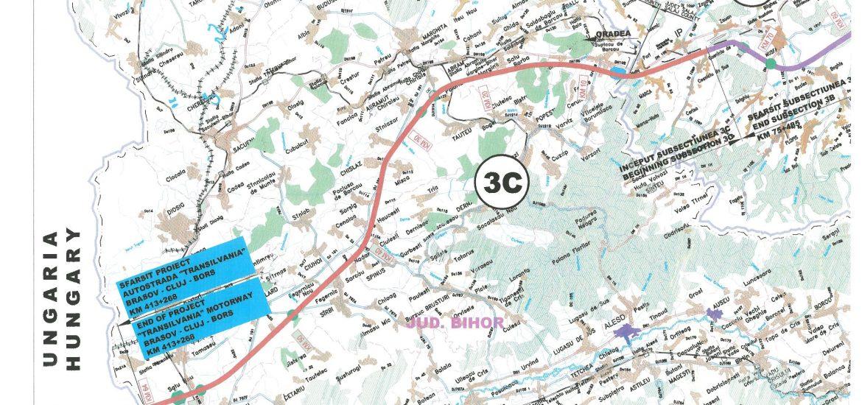 Proiectul pentru Autostrada Transilvania (A3), sectiunea Suplacu de Barcau-Bors a fost scos la licitatie. Cand se estimeaza finalizarea sectiunii