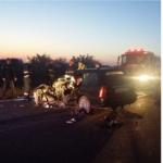 Accident grav intre Valea lui Mihai si Tarcea. Coliziune frontala intre un autoturism si o autoutilitara