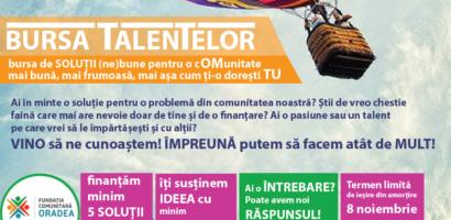 """Fundatia Comunitara Oradea lanseaza cea de a cincea editie a """"Bursei Talentelor"""""""