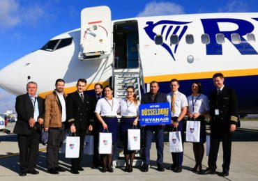 Astazi a fost inaugurat, pe Aeroportul Oradea, zborul international Oradea – Dusseldorf (FOTO)
