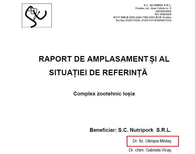 Raport amplasament Nutripork