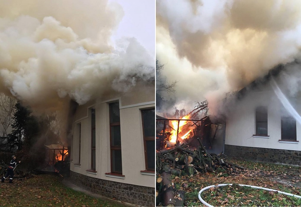 Incendiu Sudrigiu sediul Parcului Natural Apuseni