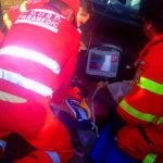 Accident stupid in Miersig. Un barbat a fost lovit de o masina dupa ce a facut un alt accident