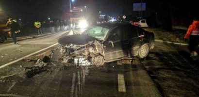 Accident GRAV in Lugasu de Jos, pe DN1! Doi morti si 8 raniti, dintre care 3 copii minori