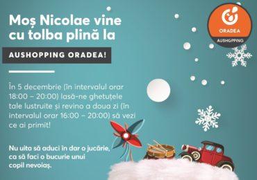 Din Decembrie, Centrul Comercial Aushopping Oradea dă startul la colind și fapte bune!