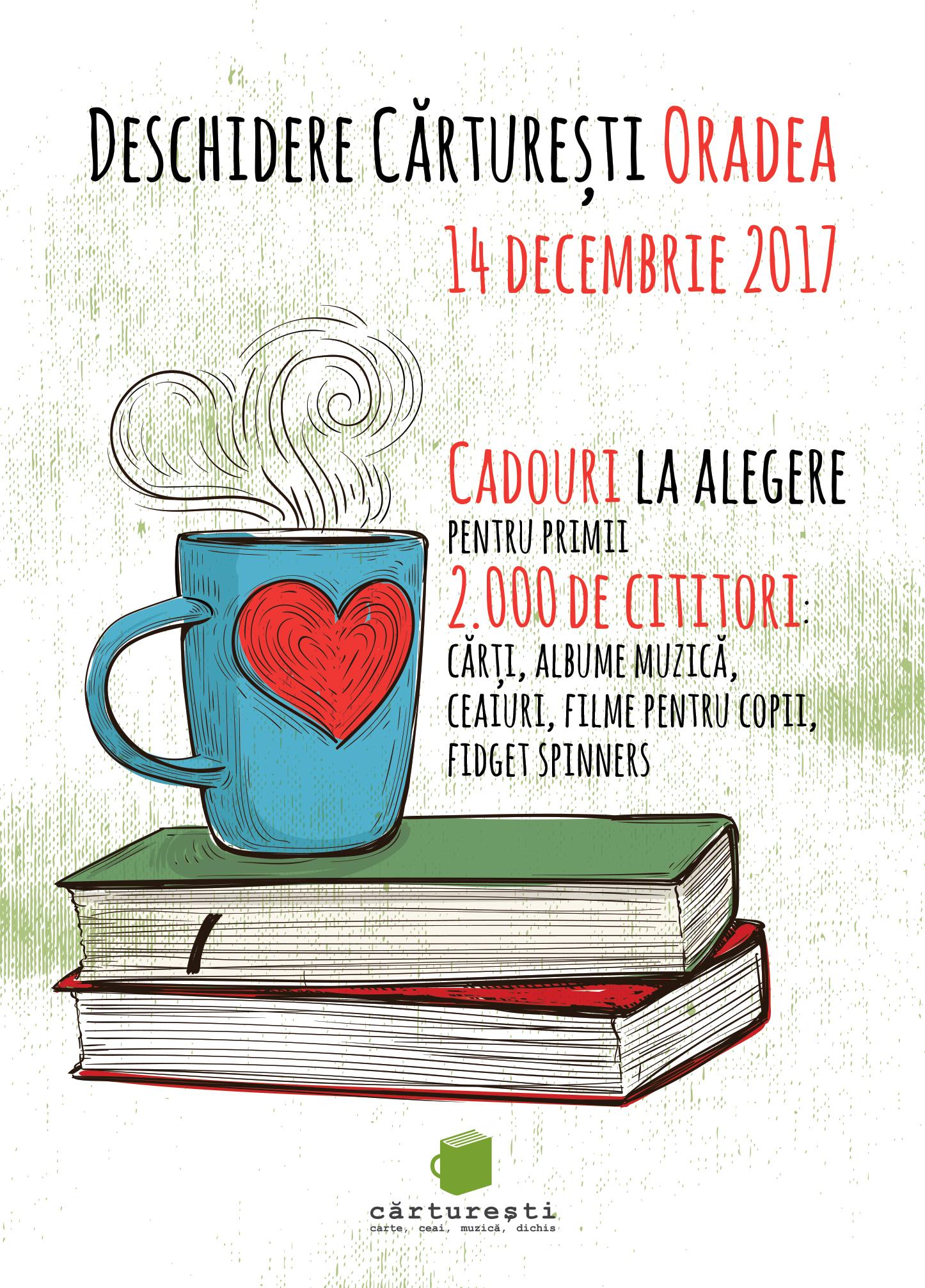De joi, 14 decembrie, Cărturești este mai aproape de cititorii din Oradea cu o librărie dedicată lor în cadrul complexului Lotus Center