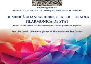 Muzica Centenarului. Concert extraordinar în deschiderea anului Centenar la Oradea