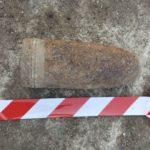 Proiectil de 120 mm, din al Doilea Razboi Mondial, descoperit pe str. Ceyrat din Oradea