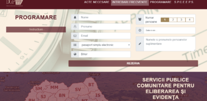 Incepand de ieri, programarea online la pasapoarte se face pe site-ul ePasapoarte.ro