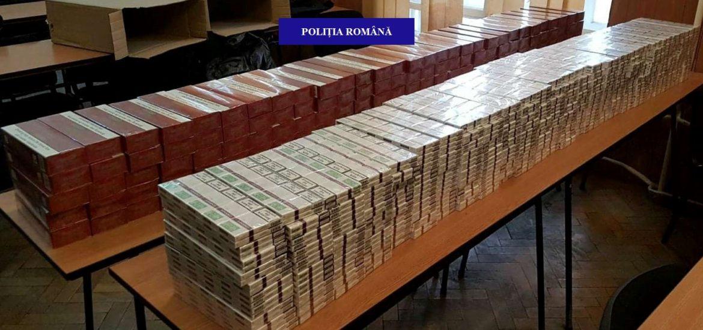 Peste 223.000 de țigarete nemarcate confiscate de polițiștii orădeni din piețele oradene