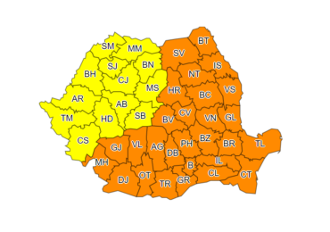 """""""Val de frig"""" peste Oradea. ANM a emis o avertizare COD GALBEN de ger"""