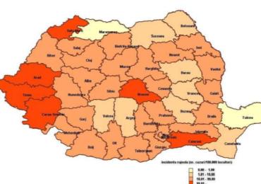 Peste 400 de noi cazuri, confirmate cu rujeola, in ultima luna in Romania