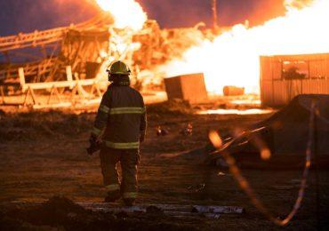 Incediu sonda moftinu 100 pompieri bihoreni