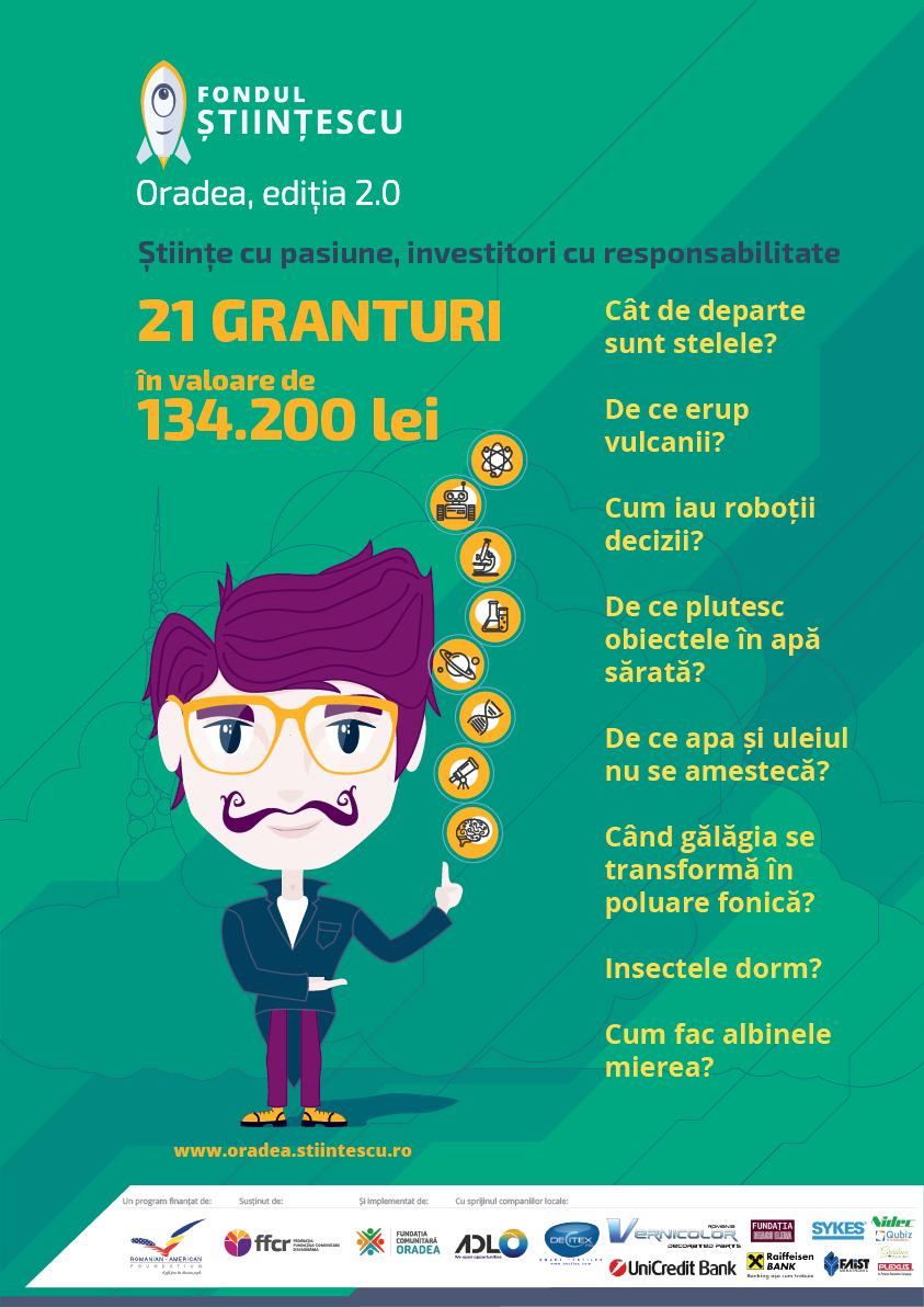 Stiintescu Oradea proiecte finantate