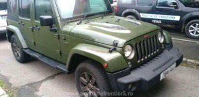 Jeep Wrangler de 40.000 de euro, furat in Marea Britanie si gasit in Vama Bors
